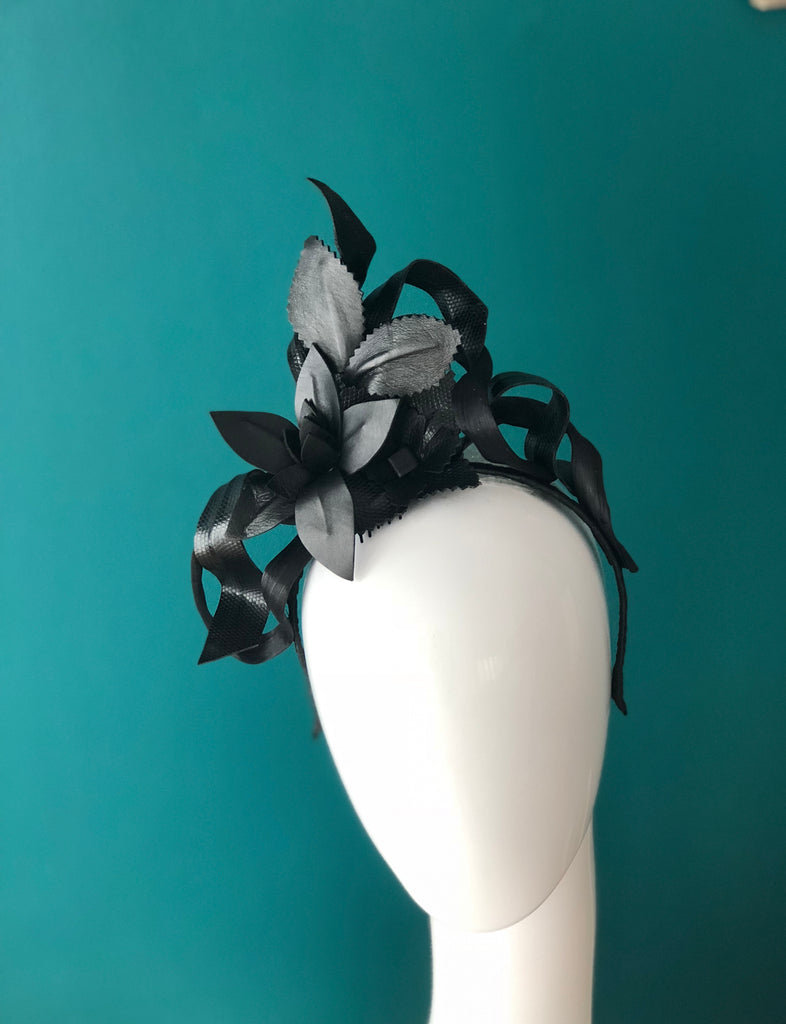 SIMONE -leather floral headpiece