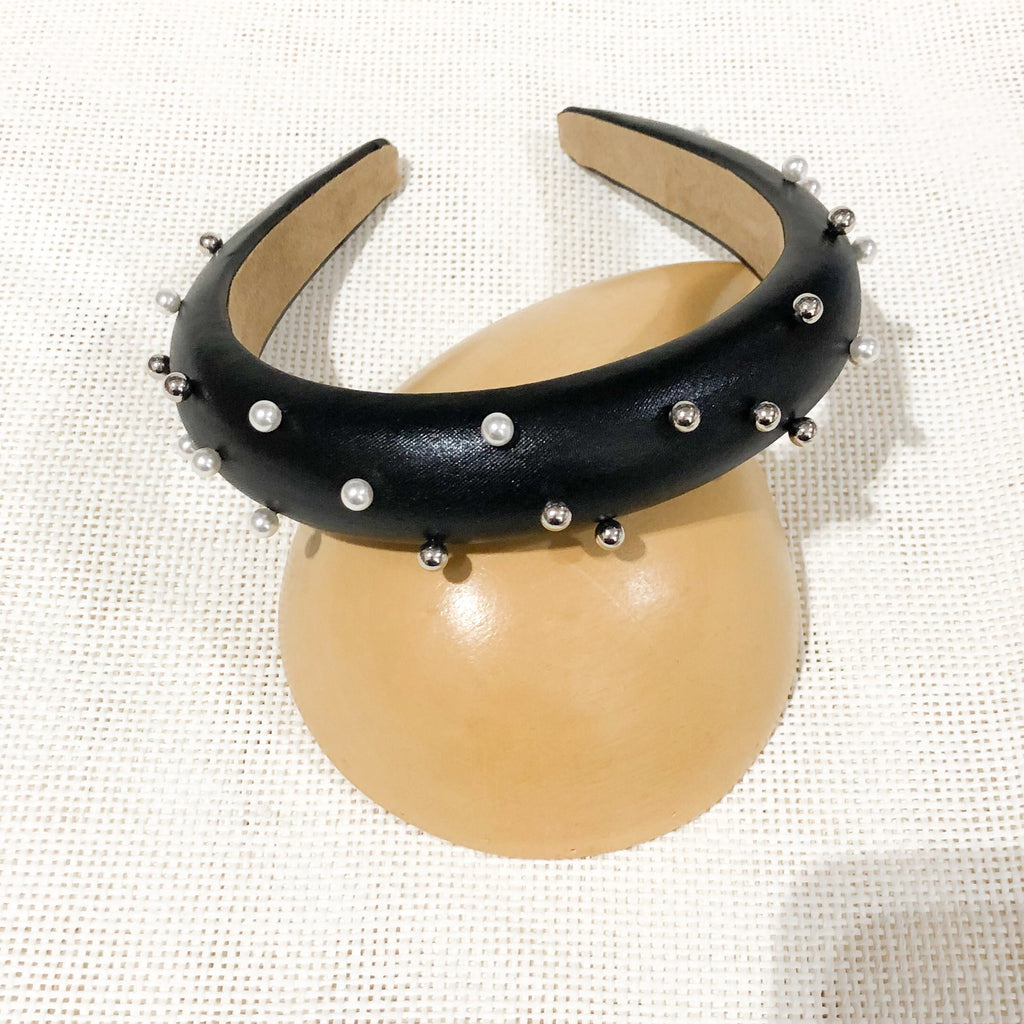 Black Studded Embellished headband