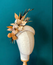 Load image into Gallery viewer, leather floral and feather headpiece