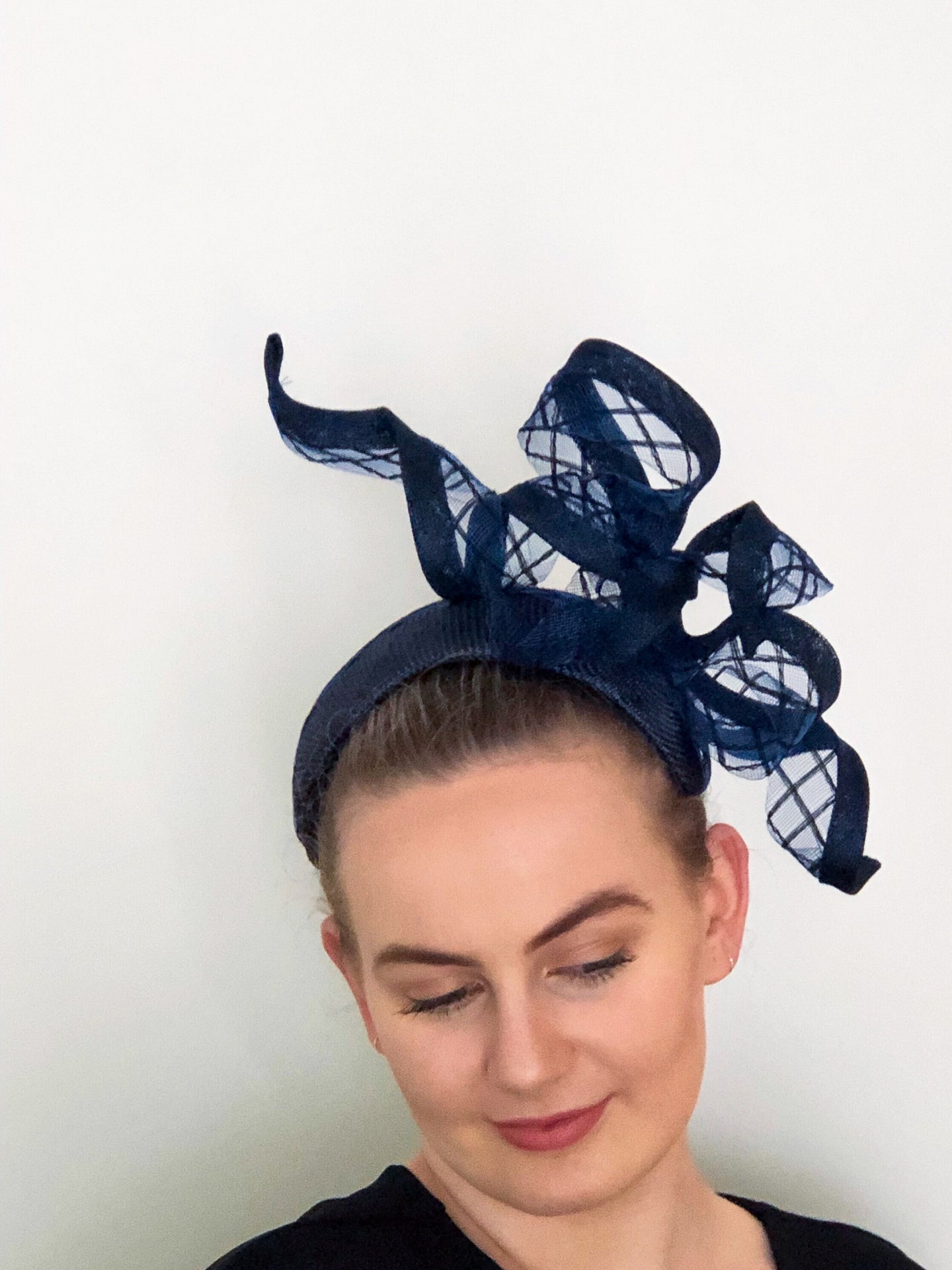 Criss cross Feature Bow headpiece-choice of colours