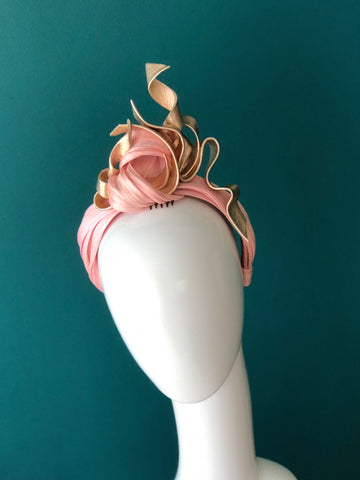 TURBAN knot headband with leather twists