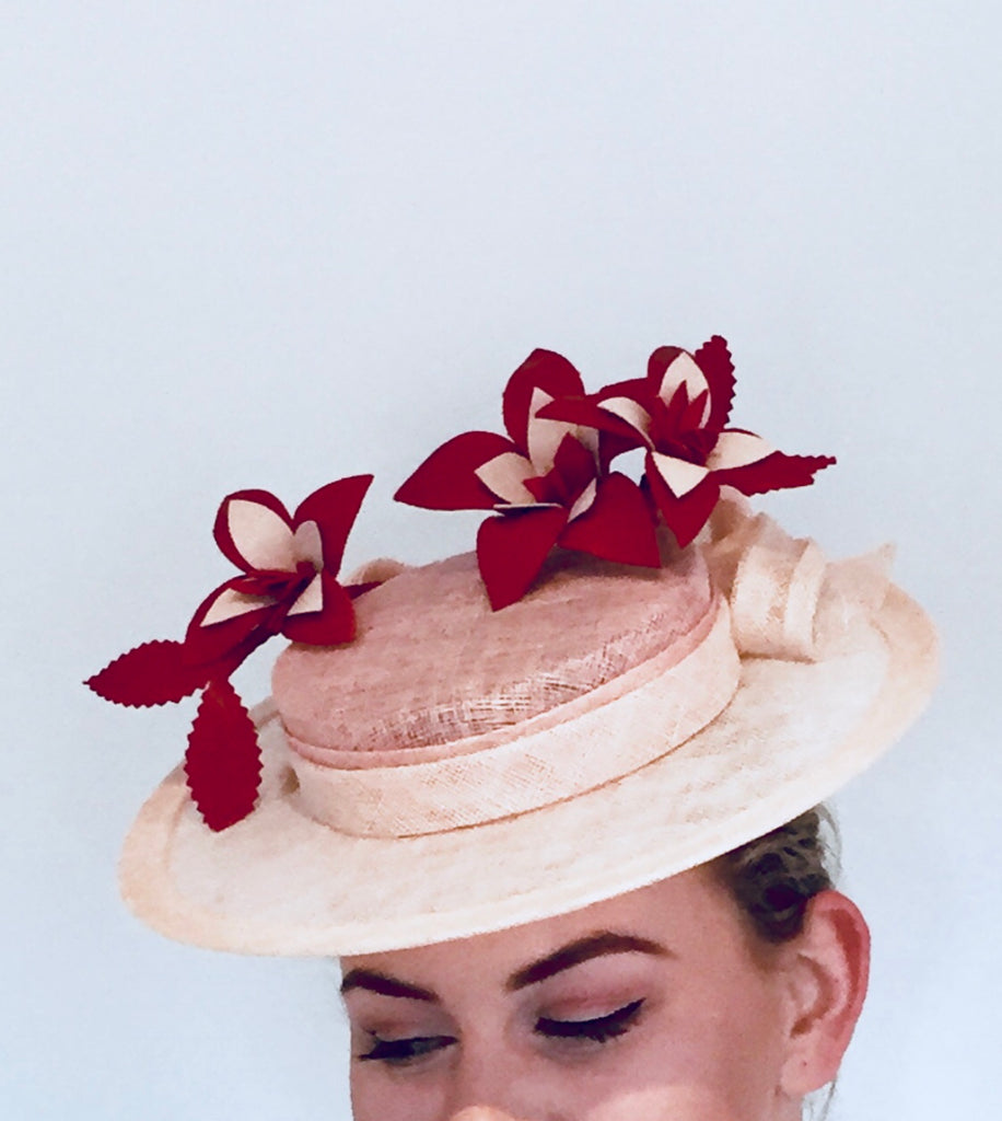 29f5c04d08a Custom Boater hat with leather trim deposit – Sassy Millinery ...