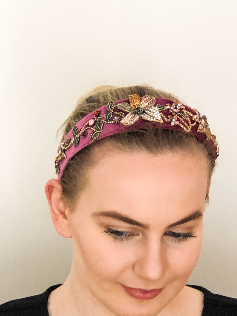 Embellished headband- pink