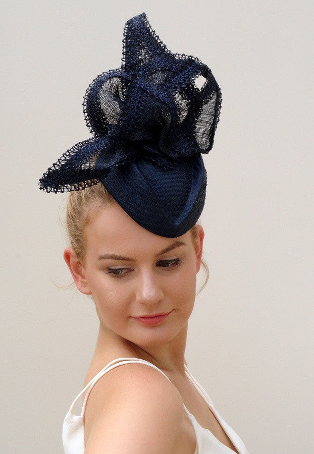 navy race hat by sassy millinery