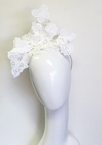 Deposit for custom made  Sculptural lace headpiece