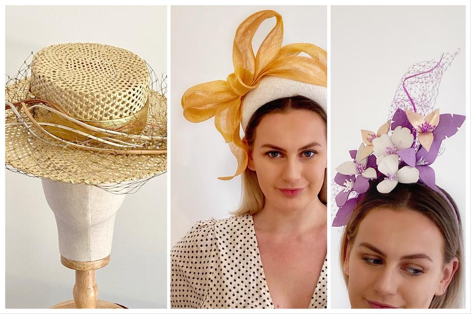 sassy millinery leather headpieces