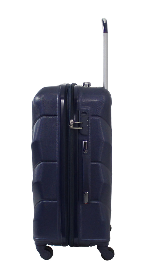 "Alistair ""Iron"" - Valise Taille Moyenne 65cm - Abs Ultra Légère - 4 Roues - Bleu Marine"