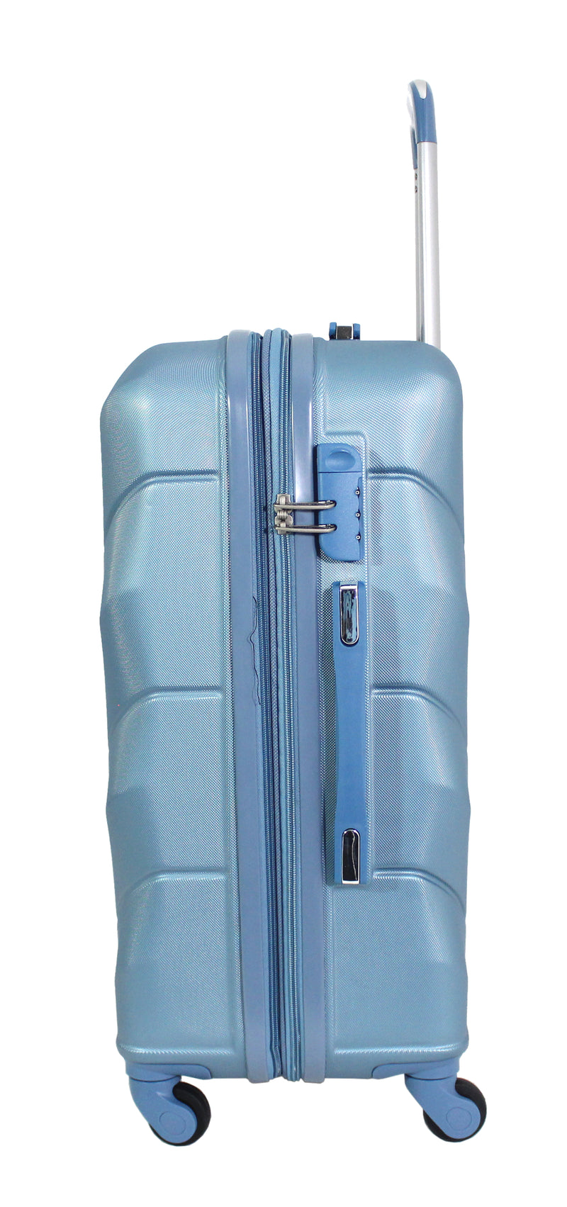 "Alistair ""Iron"" - Valise Taille Moyenne 65cm - Abs Ultra Légère - 4 Roues - Bleu"