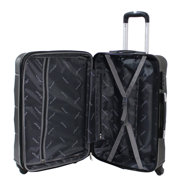 "Alistair ""Iron"" - Valise Taille Moyenne 65cm - Abs Ultra Légère - 4 Roues - Noir"