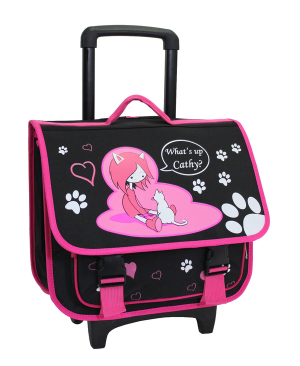 Alistair Cartable Trolley Scolaire - 39cm - Fille - What's Up Cathy