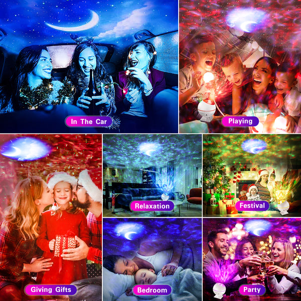 BlissLights Sky Lite - Laser Star Projector w/ LED Nebula Cloud for Game Room Decor, Bedroom Night Light, or Mood Lighting Ambiance - Classic