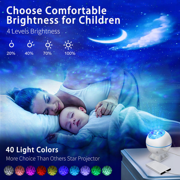 Galaxy Projector [2020 New Launch Model], Star Projector Night Light with LED Ocean Wave Projector Nebula Cloud for Game Rooms, Nightclubs, Karaoke, Home Theatre,Adults , Bedroom.