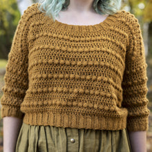 Load image into Gallery viewer, Crochet Pattern: The Goldfinch Sweater