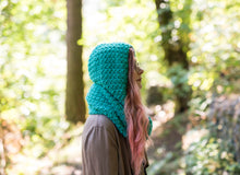 Load image into Gallery viewer, Crochet Pattern: The Magpie Hooded Scarf