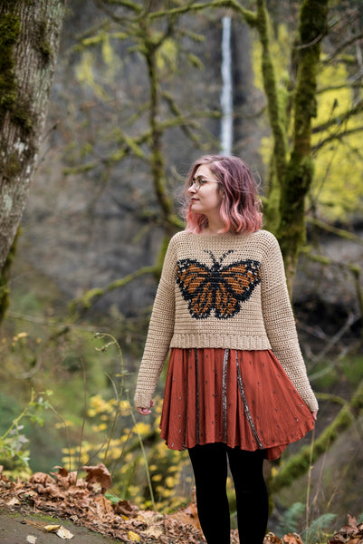 Crochet Pattern: The Monarch Sweater