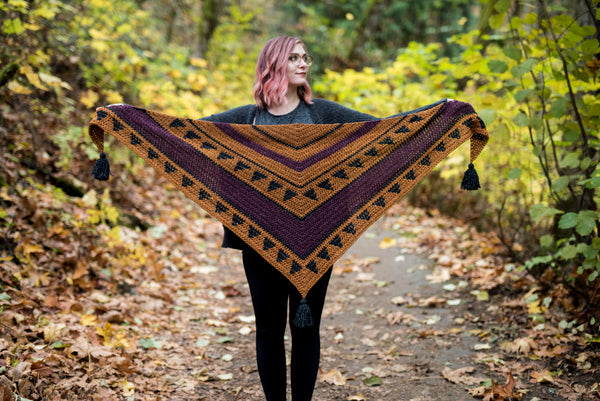 Crochet Pattern: The Oriole Triangle Scarf