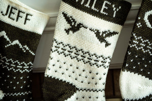 Crochet Pattern: The Forest Fair Isle Stocking