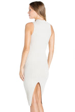 Load image into Gallery viewer, Ribbed Knit Dress with Back Slit