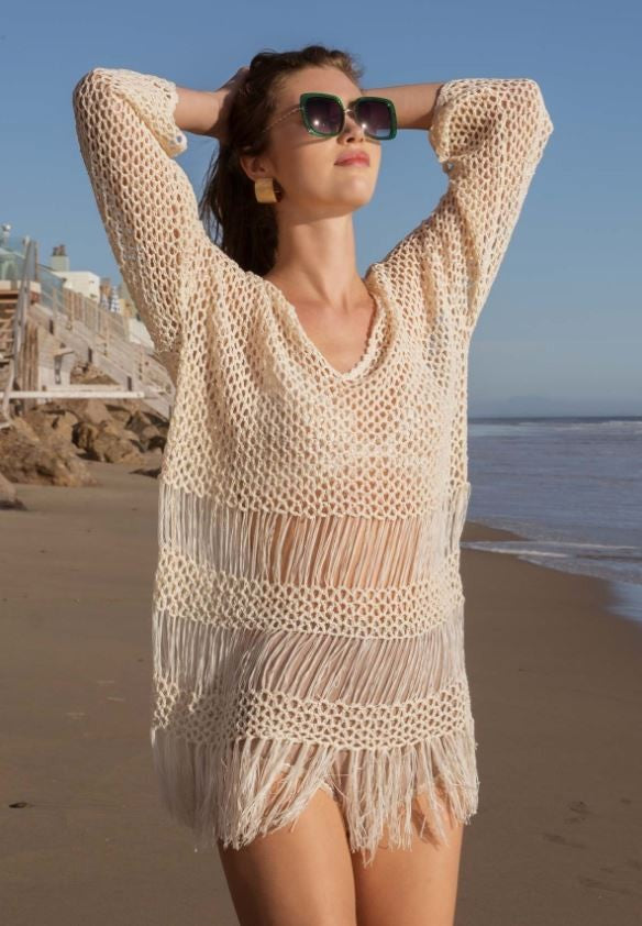 Fringed Airy Sweater