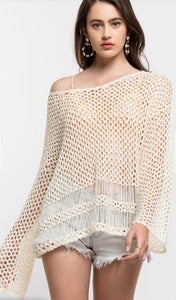 Natural Open Weave Sweater