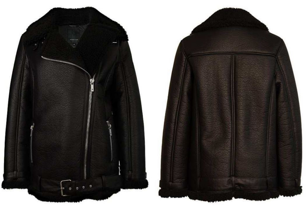 Kady Faux Leather Bomber Jacket