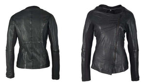 Lani Leather Side Zipper Jacket