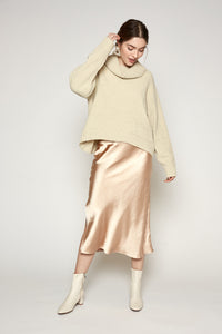 Reni Sweater Creme and Silver Threaded
