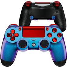 Load image into Gallery viewer, HexGaming SPIKE Controller 2 Mappable Paddles & Thumbsticks & Triggers Stop for customized PS4 controller - Chameleon Purple Blue Red