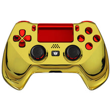 Load image into Gallery viewer, HexGaming eSports HYPER customized Controller for PS4 Elite controller 4 paddles &  & Triggers Stop - Chrome Gold Red