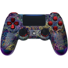 Load image into Gallery viewer, HexGaming Customizable EDGE Controller for ps4 pro custom controller eSports FPS Game controller - Neon Novel