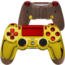 Load image into Gallery viewer, HexGaming Custom eSports SPIKE Controller for PS4 FPS Gaming Gamepad - Chrome Gold Red