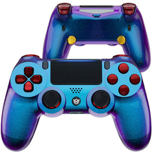 Load image into Gallery viewer, HexGaming Customizable SPIKE Controller for PS4 eSports FPS Game controller - Chameleon Purple Blue Scarlet Red