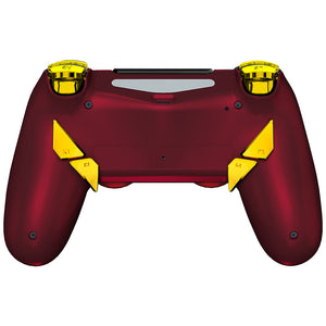 HexGaming EDGE Controller Back Buttons & Thumbsticks & Hair Trigger for PS4 Pro custom controller FPS eSport Gampad - Shadow Red