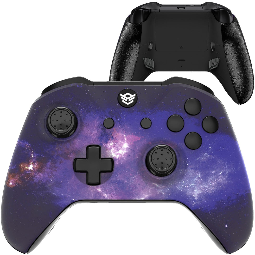 HEX eSports FPS BLADE Controller 2 Mappable Rear Buttons & Trigger Stop for Xbox ONE, Xbox Series X/S, PC Wireless Gamepad - Nubula Galaxy