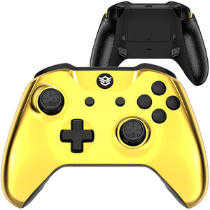 HEX eSports FPS BLADE Controller 2 Mappable Rear Buttons & Trigger Stop for Xbox ONE, Xbox Series X/S, PC Wireless Gamepad - Chrome Gold