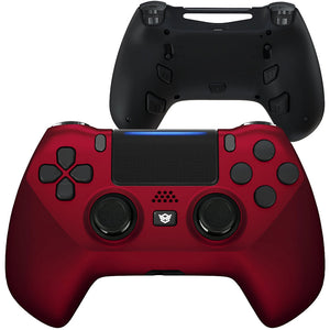 HEX eSports FPS HYPER Controller 4 Mappable Rear Buttons & Trigger Stop for PS4 PC Wireless - Scarlet Red