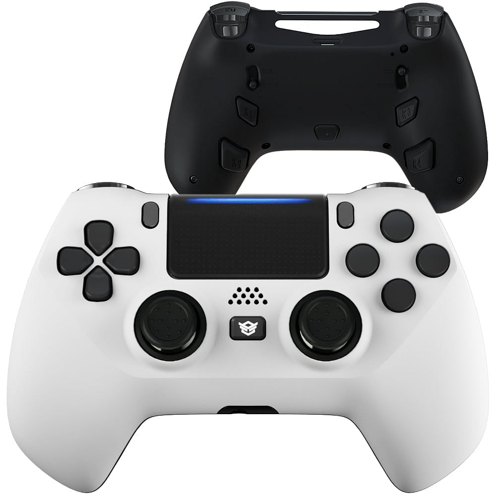 HEX eSports FPS HYPER Controller 4 Mappable Rear Buttons & Trigger Stop for PS4 PC Wireless - White