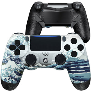 HEX eSports FPS EDGE Controller 4 Mappable Rear Buttons for PS4 PC Wireless - The Great Wave