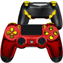 Load image into Gallery viewer, HexGaming EDGE elite controller 4 paddles & Interchangeable Thumbsticks & Hair Trigger for PS4 - Chrome Red