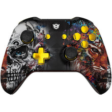 Load image into Gallery viewer, HexGaming eSports BLADE customized Controller for Xbox Series X/S , XBOX Elite paddles & Interchangeable Thumbsticks & Triggers Stop - Tiger Skull