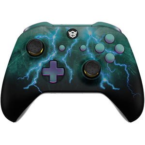 HexGaming eSports BLADE Mappable Rear Buttons & Interchangeable Thumbsticks & Triggers Stop for Xbox Series X/S - Green Storm