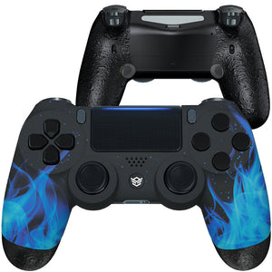 HEX eSports FPS SPIKE Controller 2 Mappable Rear Buttons & Trigger Stop for PS4 PC Wireless - Blue Flame