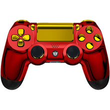 Load image into Gallery viewer, HexGaming HEX SPIKE Controller 2 Back Buttons & Thumbsticks & Triggers Stop for PS4 Pro custom controller - Chrome Red Gold