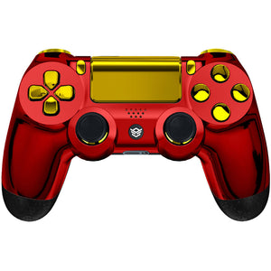 HexGaming HEX SPIKE Controller 2 Back Buttons & Thumbsticks & Triggers Stop for PS4 Pro custom controller - Chrome Red Gold