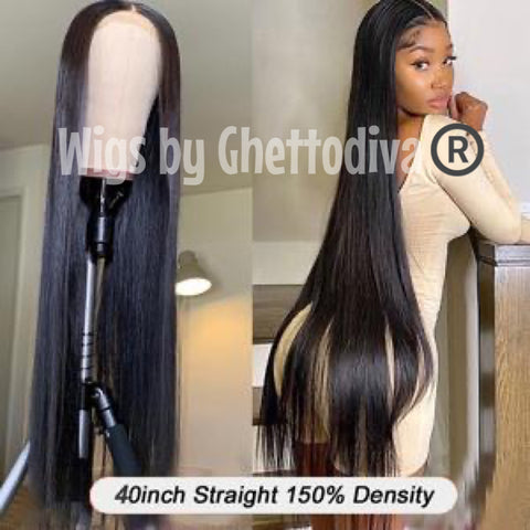 "READY TO SHIP: Rapunzelia Diva Human Hair Lace Front Wig 40""."