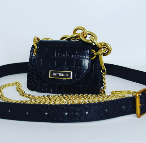 Black Miami Cross Body Bag