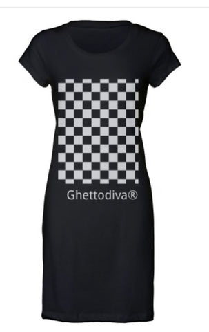 Black Dart Board Dress