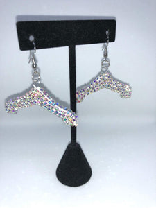 Rhinestone Hanger Earrings secretplacecreativebeautysupplyshop