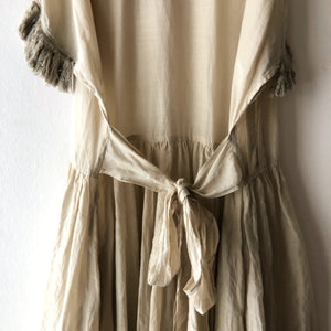 Tabrik    Fringe sleeve dress