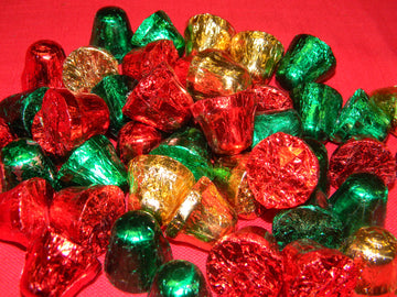 Foil Wrapped Chocolate Christmas Bells